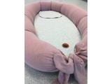 EASYGROW Dojčiaci vankúš a hniezdo pre bábätko MUM & ME, Blue