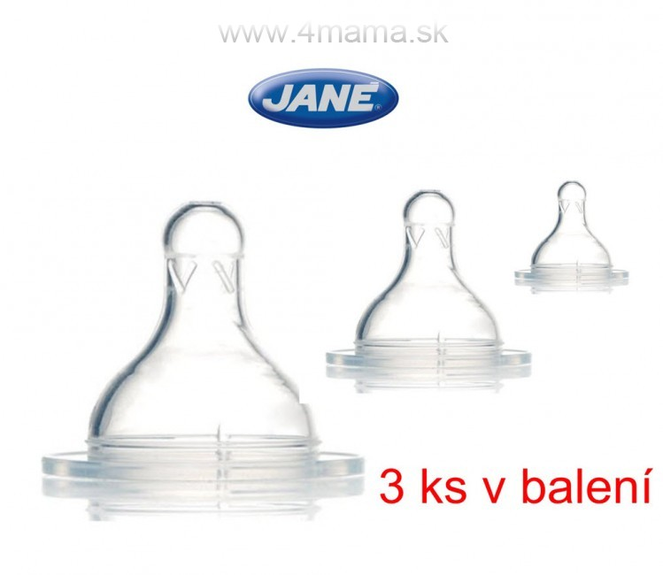 Cumlík na fľašu JANÉ (3 ks v balení) 4 mama   baby - NAJLACNEJŠIE ... 2e0327c6b1c