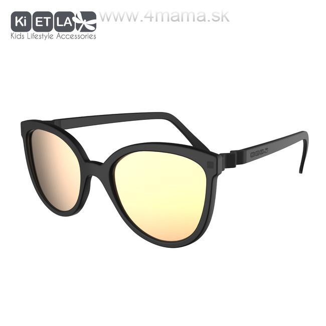 c3a6c9660 KIETLA CraZyg-Zag slnečné okuliare 6-9 r. - mačacie čierne zrkadlovky