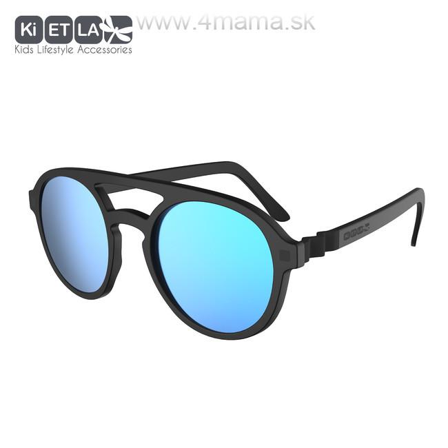 KIETLA CraZyg-Zag slnečné okuliare 9-12 r. - pilotky čierne zrkadlovky 792d6fb5600