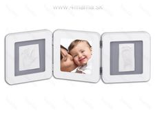 Baby Art Double Print Frame White & Grey