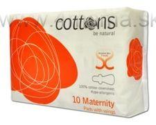 COTTONS vložky po pôrode 10ks