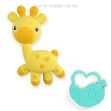 Hryzátko kaučukové žirafka + chrobáčik Soothimals™ 0m+