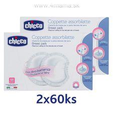 Jednorázové prsné vložky Chicco 60+60 ks
