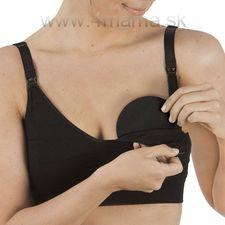 Prateľné prsné vložky CARRIWELL čierne