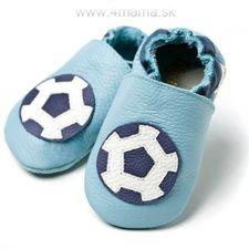 Topánky Liliputi futbalová lopta modré