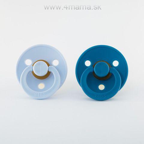 BIBS cumlíky z prírodného kaučuku 2ks (Baby blue & Dark teal) - veľkosť 2