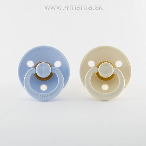 BIBS cumlíky z prírodného kaučuku 2ks (Baby blue & Ivory) - veľkosť 2