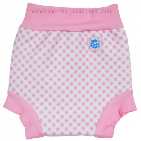 Detské plavky SPLASH ABOUT Happy Nappy - ružové kocky