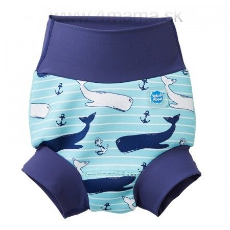 Detské plavky SPLASH ABOUT Happy Nappy - Veľryba