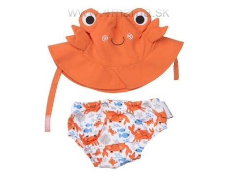 ZOOCCHINI Detské plavky Krab - Sada klobúčik a plavky