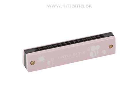 LITTLE DUTCH Fúkacia harmonika, pink