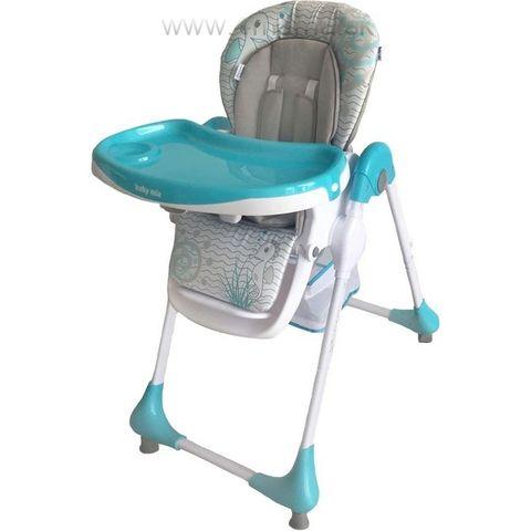 Baby Mix Jedálenská stolička Junior - modrá