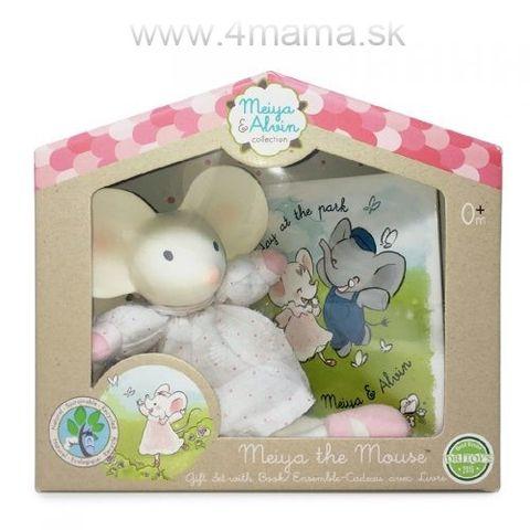 MEIYA & ALVIN Darčekový set knižka + hračka - Myška Meiya