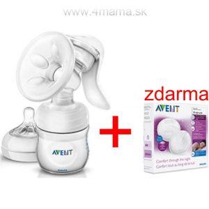 Odsávačka mlieka Avent Natural + prsné vložky Avent ZDARMA !