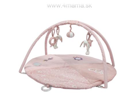 LITTLE DUTCH Plyšová hracia deka s hrazdičkou, pink