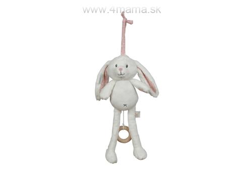 LITTLE DUTCH Plyšový zajačik hrajúci, pink