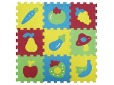 LUDI Puzzle penové 84x84 cm Ovocie a zelenina 617359be1c2