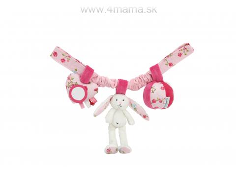 LITTLE DUTCH Reťaz zajačikovia, biela/ružová