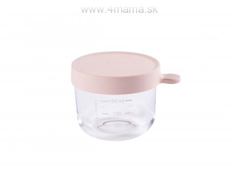 BEABA Téglik na jedlo sklenený 150 ml, ružový